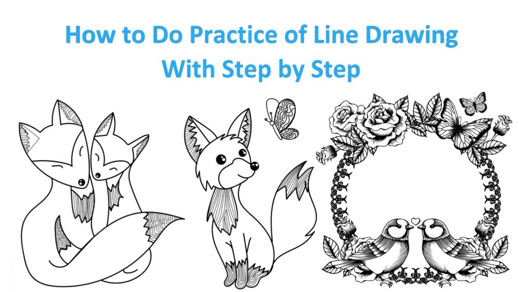 Practice of Line Drawing With Step by Step