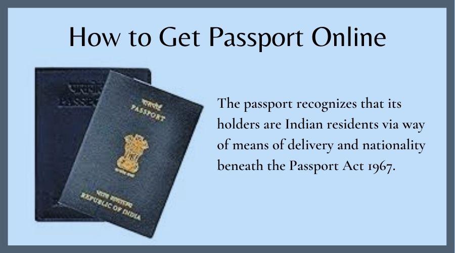 How to Get Passport Online